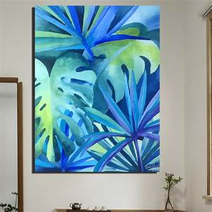 blue tropical wall art tropical wall art here are some With tropical wall decor