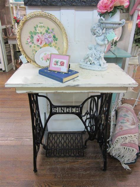 shabby chic sewing shabby chic table singer sewing machine creamy by rosesnmygarden 285 00 home decor