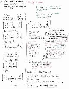 problem solving - Linear Algebra | Determine the values of ...