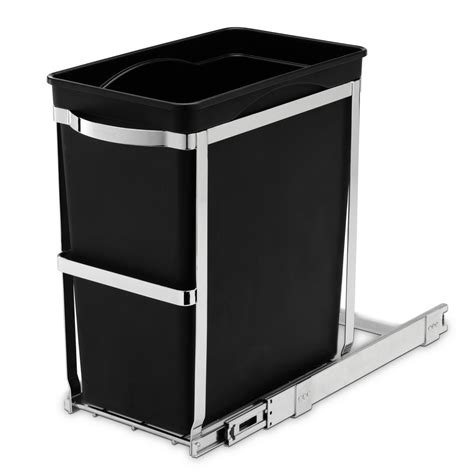 simplehuman cabinet trash can simplehuman 30 liter commercial grade counter pull