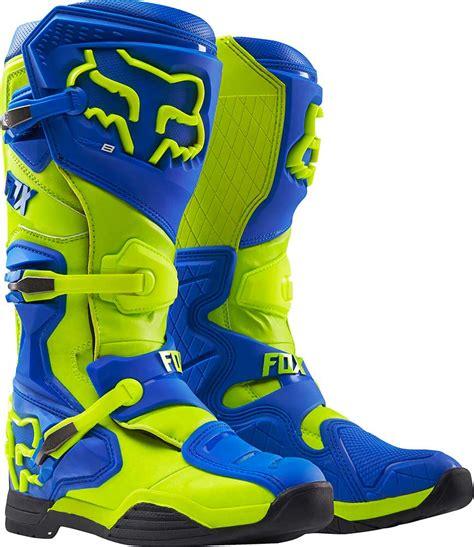 blue dirt bike boots 2016 fox racing comp 8 boots motocross dirtbike mx atv