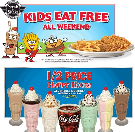 28570 Steak And Shake App Coupons by Pinned January 29th Eat Free Weekends 50 Happy