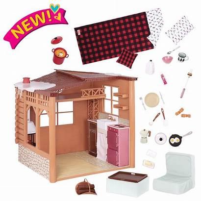 Cabin Cozy Playset Dollhouse Dolls Og Inch
