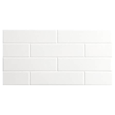 bridgehton ceramic collection tile white crackle 2 quot x 8 quot