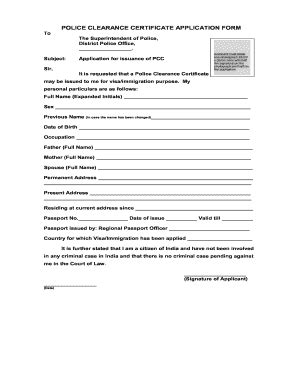 police verification fill  printable fillable