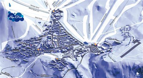 plan de la station alpe dhuez intersport rent