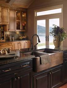 Sink Island Kitchen When And How To Add A Copper Farmhouse Sink To A Kitchen