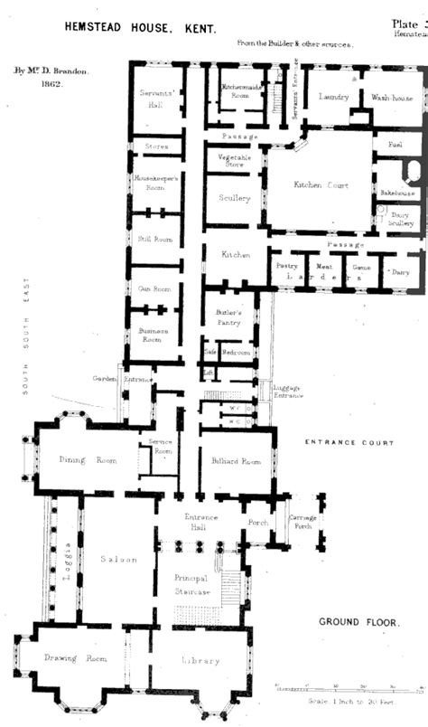 hemstead house kent plate xxxviii architecture plans
