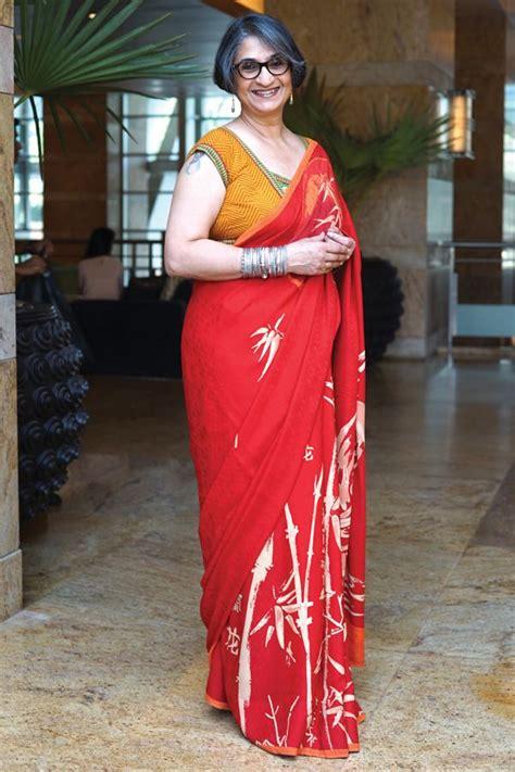 mature style  saree  fashion  older women
