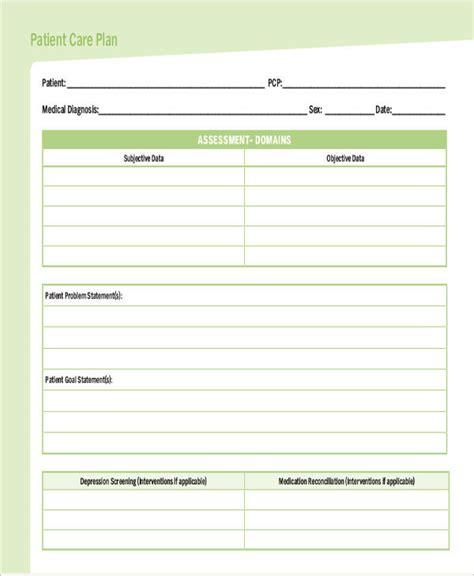 Nursing Care Plan Format Template by Care Plan Templates 13 Free Word Pdf Format