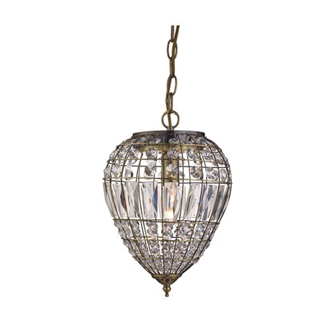 searchlight 3991ab 1 light antique brass pendant