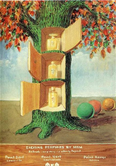 poster exciting perfumes  mem  rene magritte