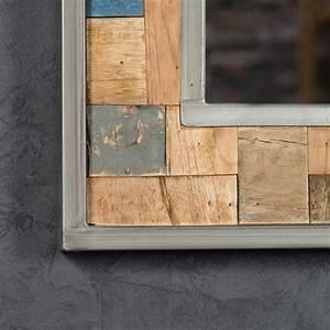 Mirroir Salle De Bain : miroir de d coration en bois teck massif et m tal ~ Dode.kayakingforconservation.com Idées de Décoration