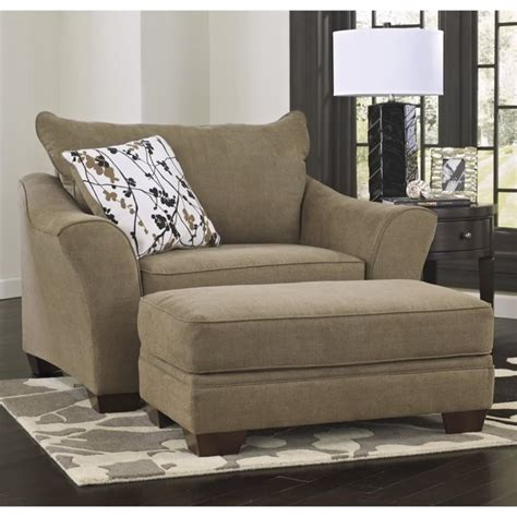 mykla fabric oversized chair with ottoman in