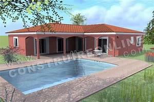 maison plain pied en l With modele de maison en l 5 image maison tunisienne