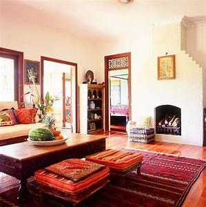 Ethnic, Indian, Living, Room, Interiors