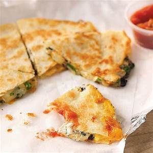 Three-Cheese Quesadillas Recipe | Taste of Home