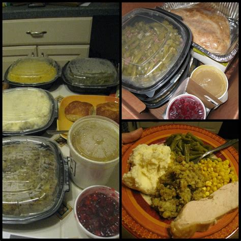 Comes packed cold, complete with turkey or ham, pies and sides. Bob Evans - Easy Holiday Meals