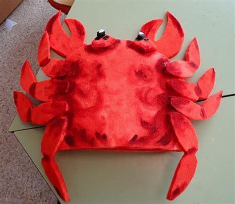 gorro de cangrejo manualidades infantiles disfraces animales marinos disfraz de cangrejo