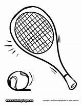 Tennis Coloring Racket Drawing Racquets Printable Easy Getdrawings Getcoloringpages sketch template