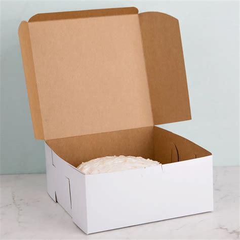 southern champion       white cake bakery box