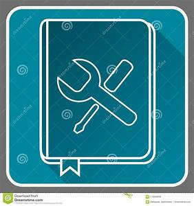 User Guide Book Thin Line Vector Icon  Flat Icon With A