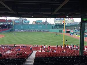Boston Red Sox Seating Chart Fenway Park Grandstand 8 Rateyourseats Com