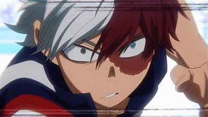 Hero Anime Boku Academia Todoroki Bakugou Vs