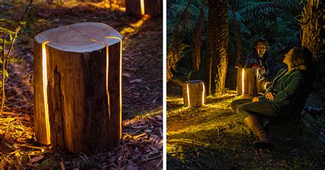 legally blind artist  cracked log lamps bursting