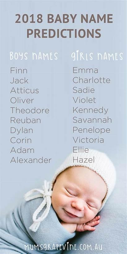 Names Popular Mumsgrapevine Prediction Predictions Babys Grapevine