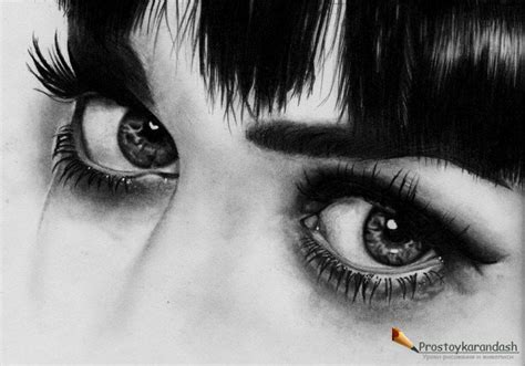 Как нарисовать реалистичный женский глаз 10 шагов