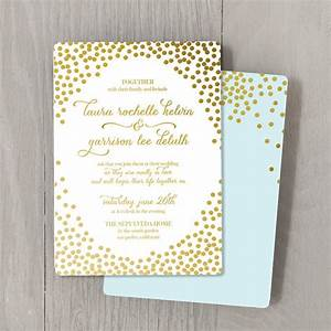 Items similar to confetti gold foil custom wedding for Personalised foil wedding invitations
