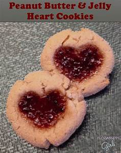 Florassippi Girl: Peanut Butter and Jelly Heart Cookies