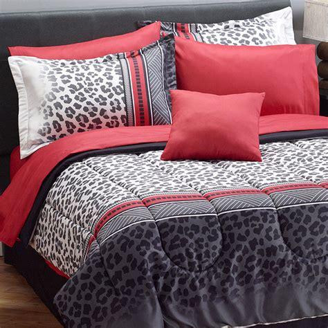 myhome snow leopard comforter set set queen bedding