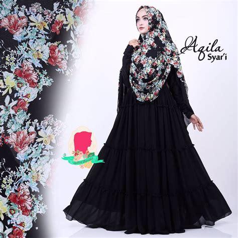 aqila syar i by gallery syarifah baju gamis syari bahan ceruti