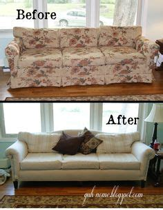 How To Reupholster A Sleeper Sofa by Tutorial Diy Reupholster With A Canvas Drop Cloth