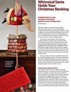 Carving Santa Stocking Holder • WoodArchivist