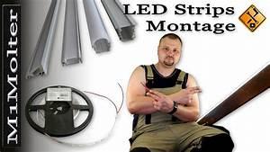 Led Strips Befestigen : led leisten stripes installation montage von m1molter youtube ~ A.2002-acura-tl-radio.info Haus und Dekorationen