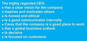 8 Characteristics of a CEO With a Great Reputation