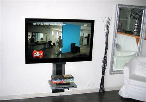 bureau de cr饌tion accrocher tv au mur 28 images le meuble t 233 l 233 vision de la mise en avant 224 la discr 233 tion gt meuble magazine ecran plat led 3d fix