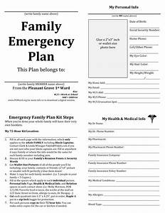 family emergency plan printable documents for your With emergency response checklist template