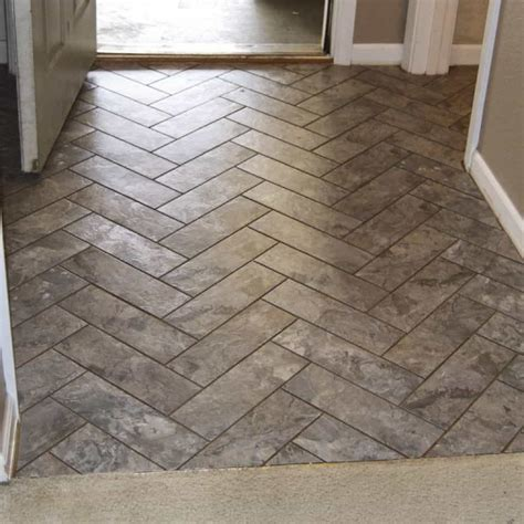 Chevron Peel And Stick Floor Tiles  Affordable Peel And