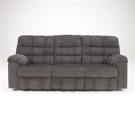 reclining sofa with drop down table signature design by ashley 5830089 acieona reclining sofa