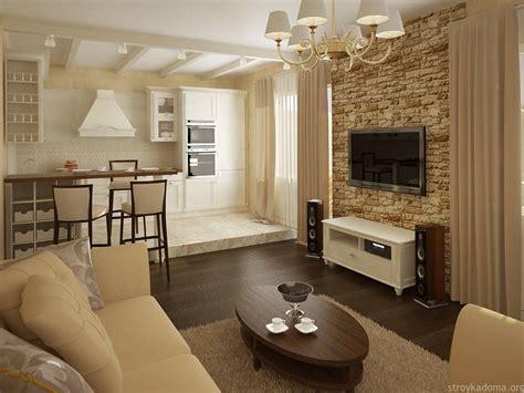 Дизайн кухнигостиной  ТОП70 фото идей гостиных
