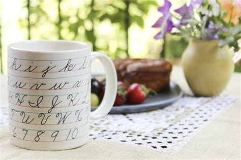 Alphabet letters, words, numbers, sentences, and poems. Amazon.com: Penmanship Coffee Mug - All of the Cursive ...
