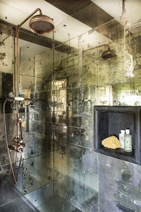 antique mirror tiles ideas  pinterest mirror