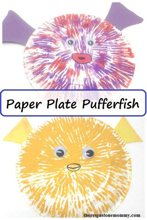paper plate pufferfish craft paper plate activities 596 | 86f9638f49a173543ff6d2738a599abf