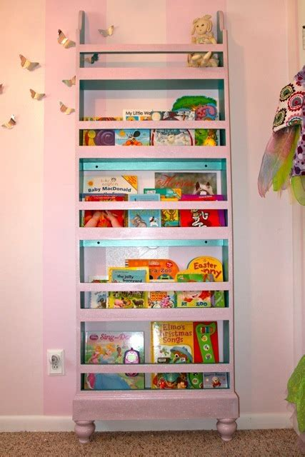 ana white girly flat wall bookshelf diy projects