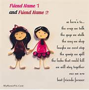 Best friends forever girls Name Picture - Friendship Name Generator ...