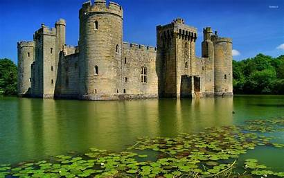 Castle England Bodiam Desktop Wallpapers Background Nature